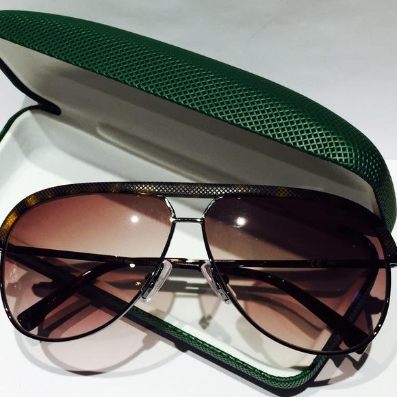 0b930244c9 NIB Lacoste Aviator Gunmetal Sunglasses